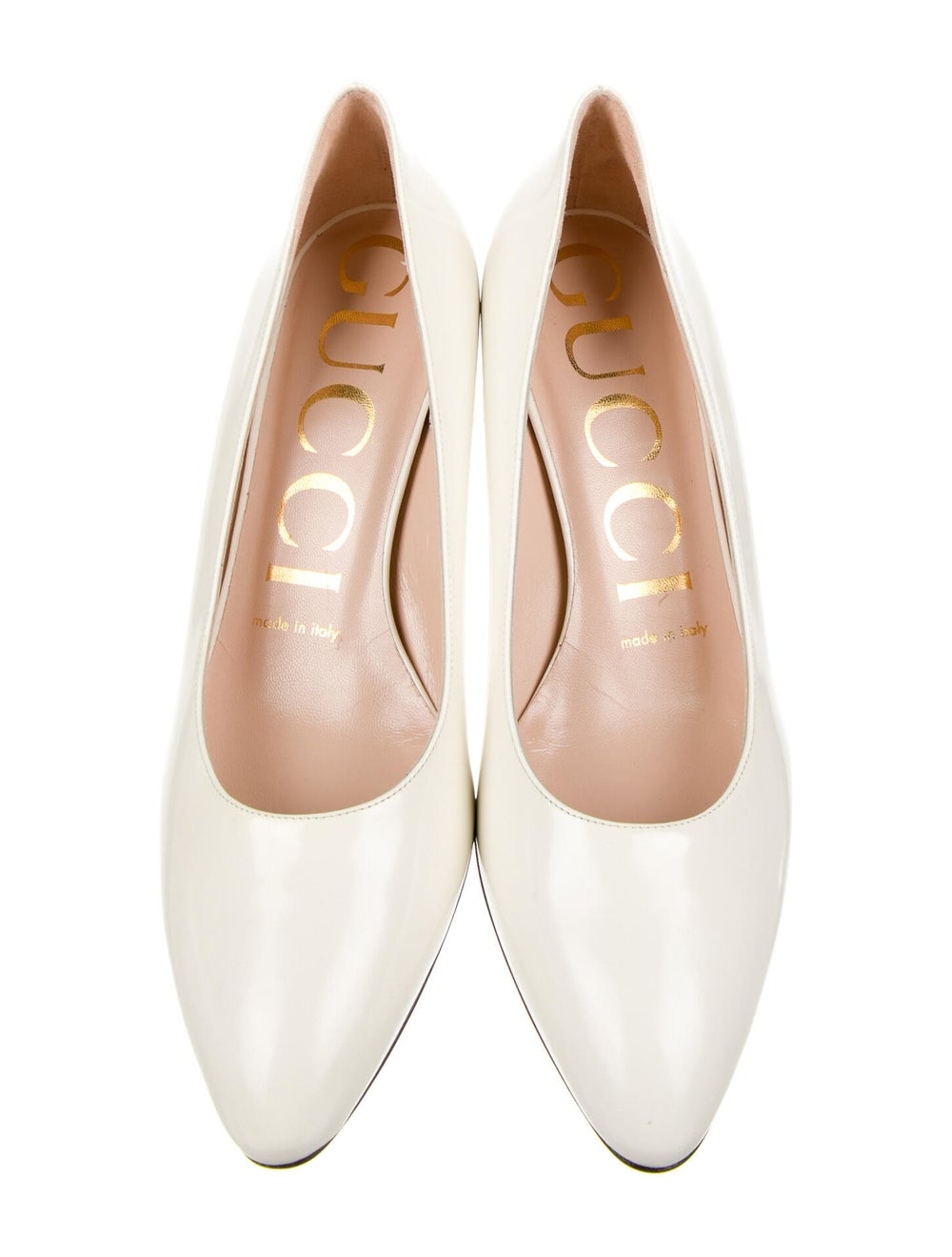 Gucci Leather Crystal Embellishments Pumps - image 3
