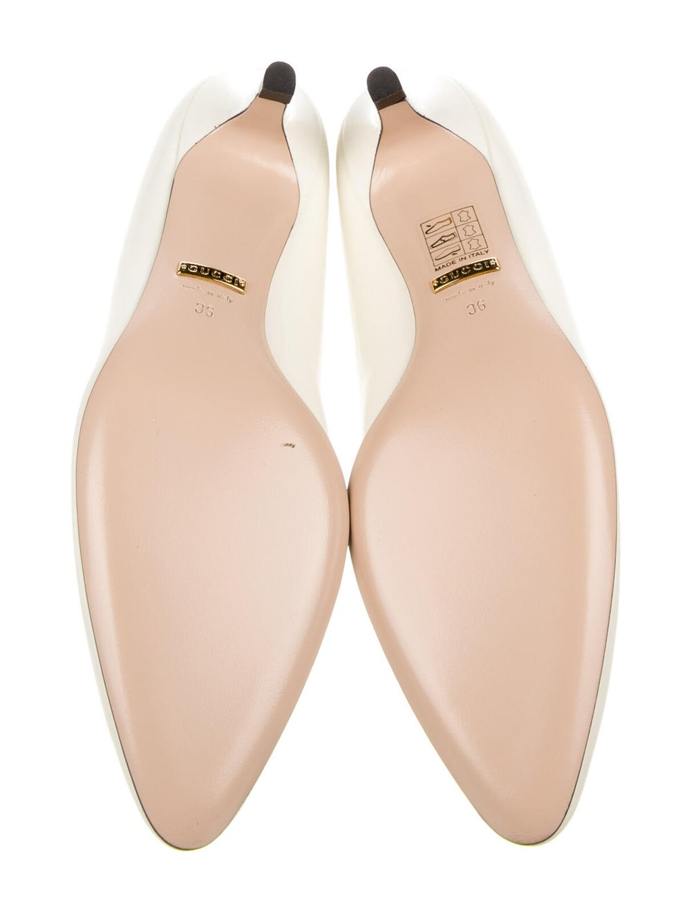 Gucci Leather Crystal Embellishments Pumps - image 5
