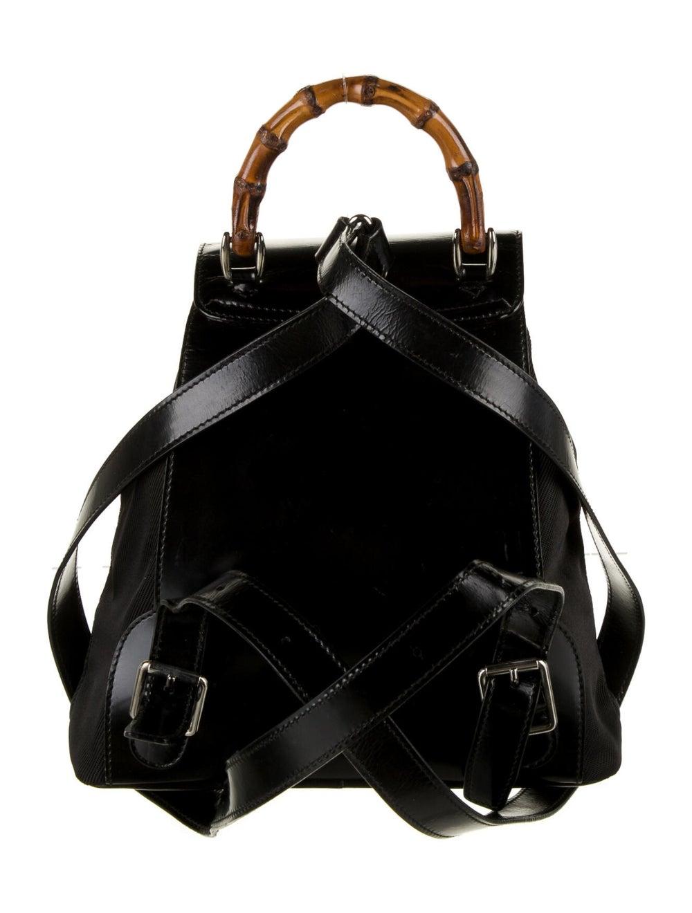 Gucci Vintage Nylon Bamboo Backpack Black - image 4