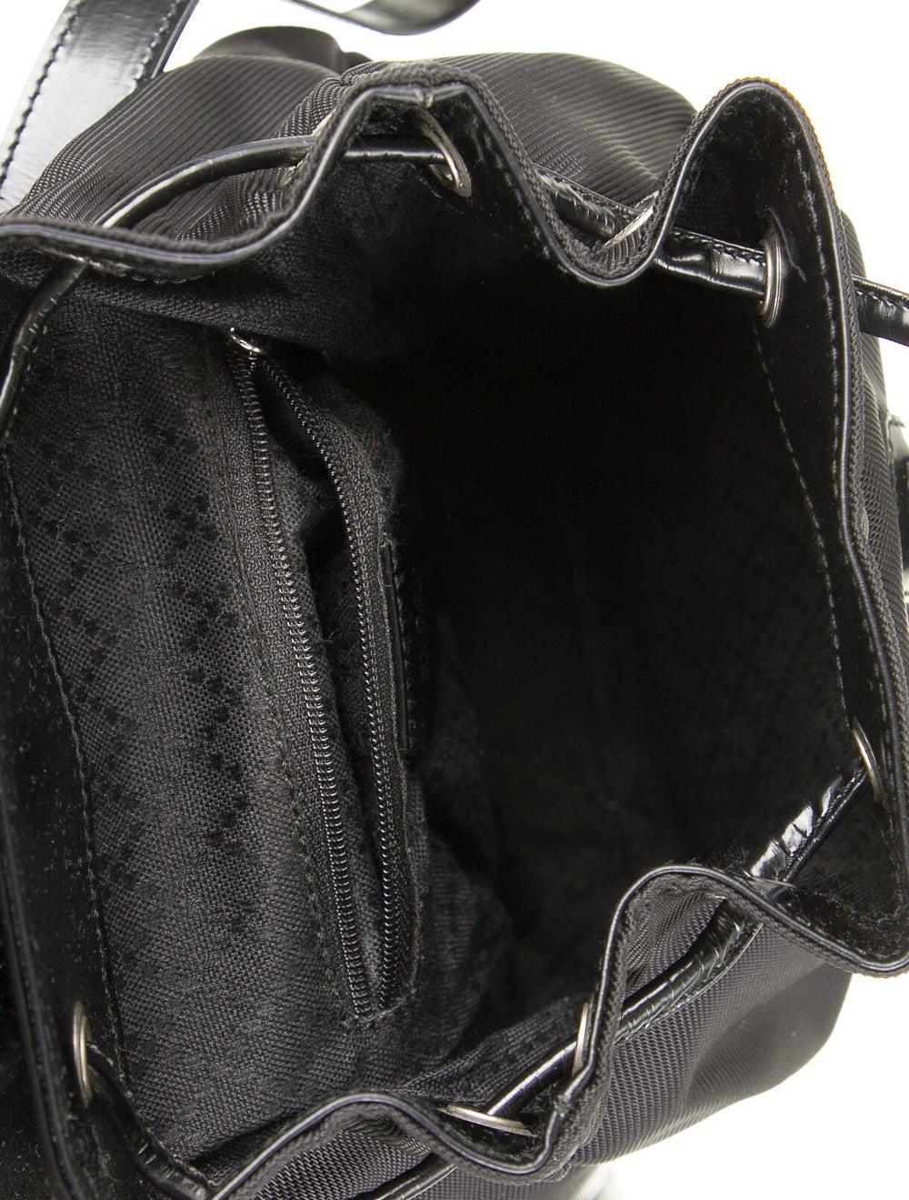 Gucci Vintage Nylon Bamboo Backpack Black - image 5