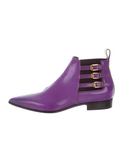 Gucci Leather Boots Purple