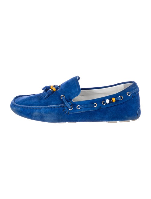 Gucci Suede Boat Shoes Blue