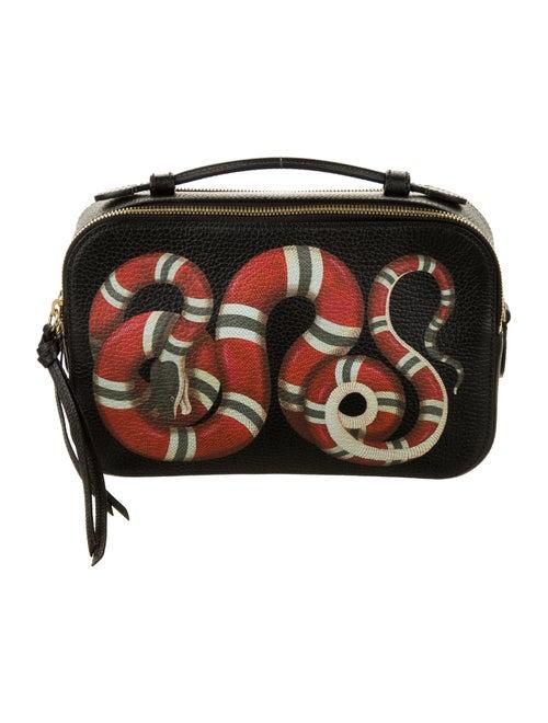 Gucci Small Merveilles Kingsnake Crossbody Bag Bla