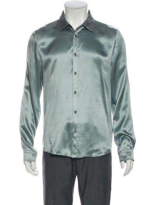Gucci 2015 Silk Shirt Blue