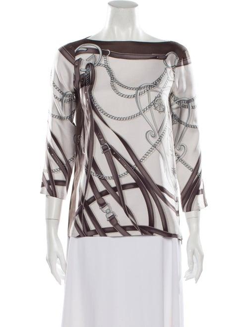 Gucci Vintage Silk Blouse Grey