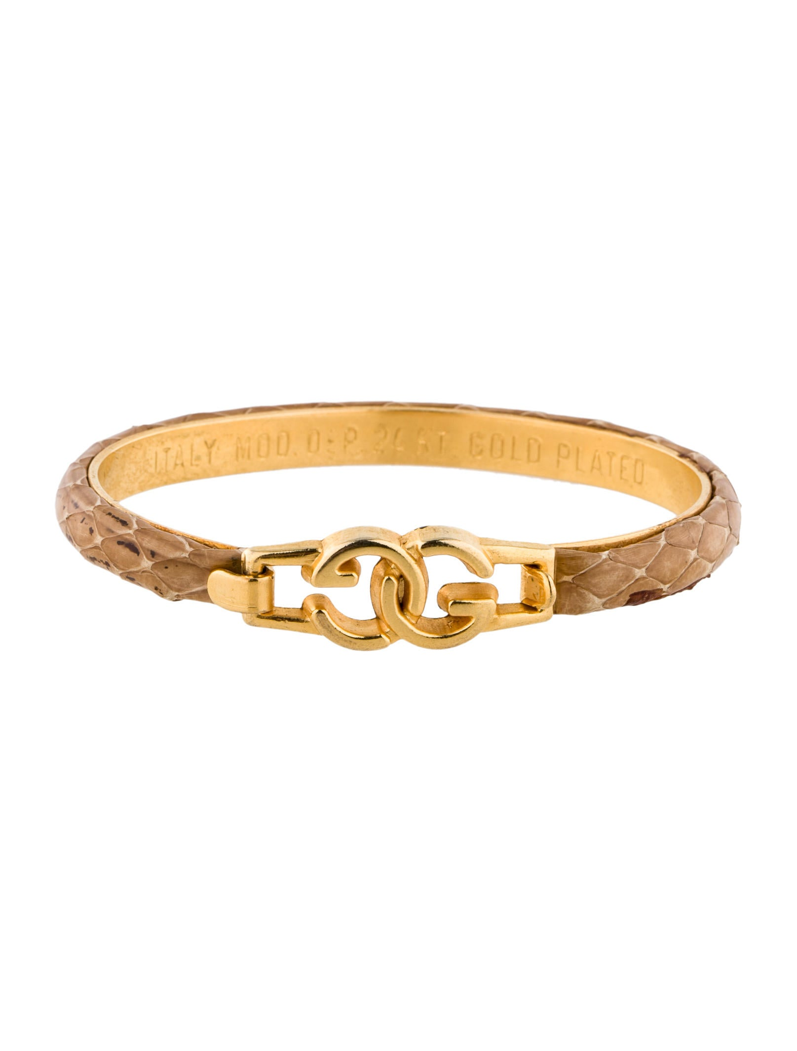 db6aab6abdc Gucci Snakeskin Bracelet - Bracelets - GUC56873