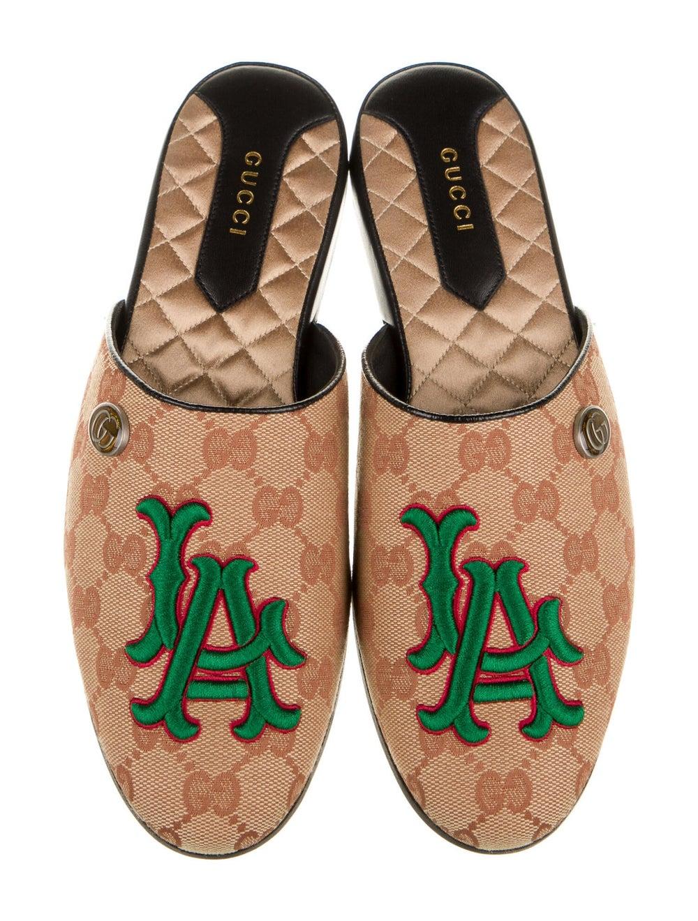 Gucci LA Dodgers GG Canvas Mules w/ Tags - image 3