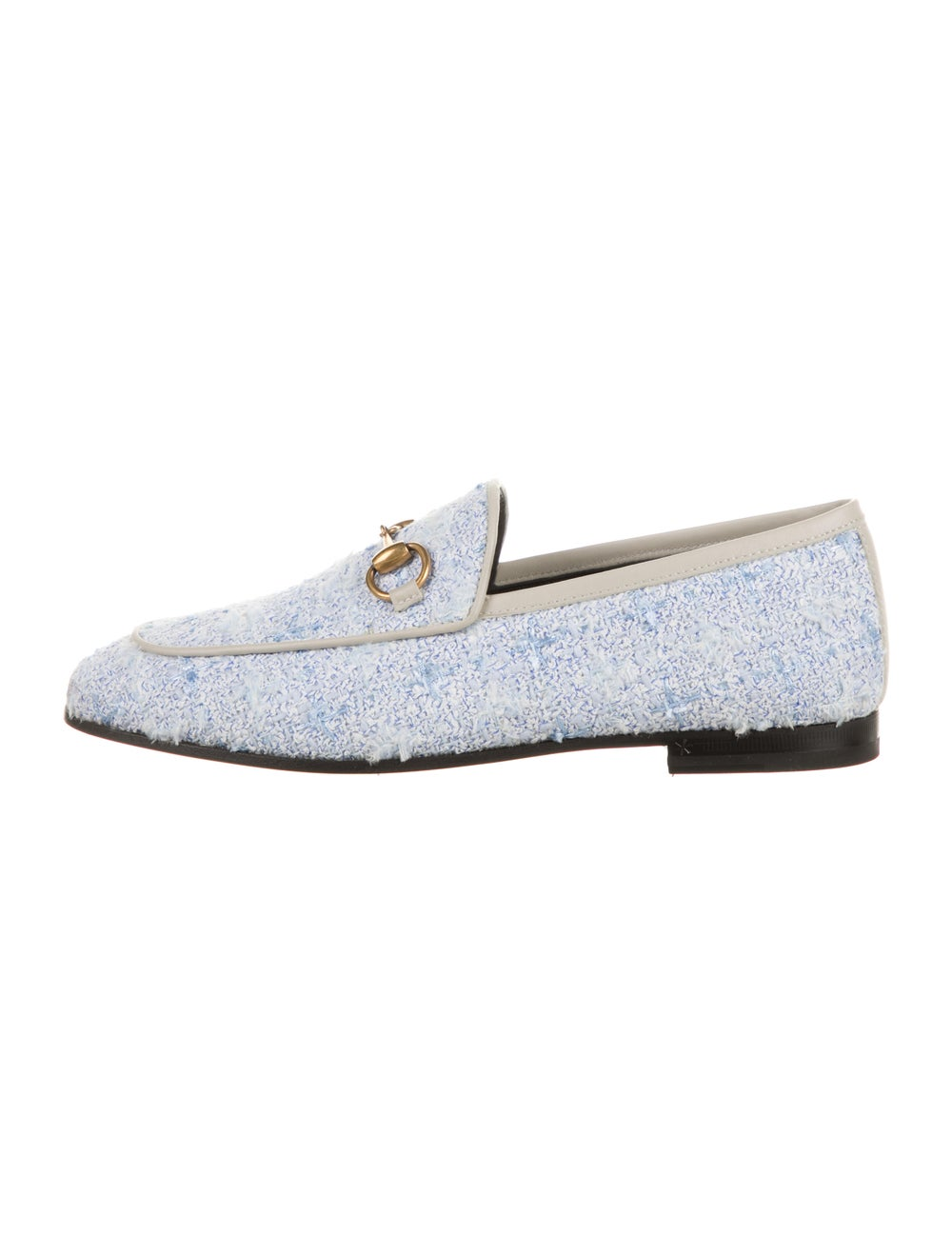 Gucci Horsebit Accent Tweed Pattern Loafers w/ Ta… - image 1