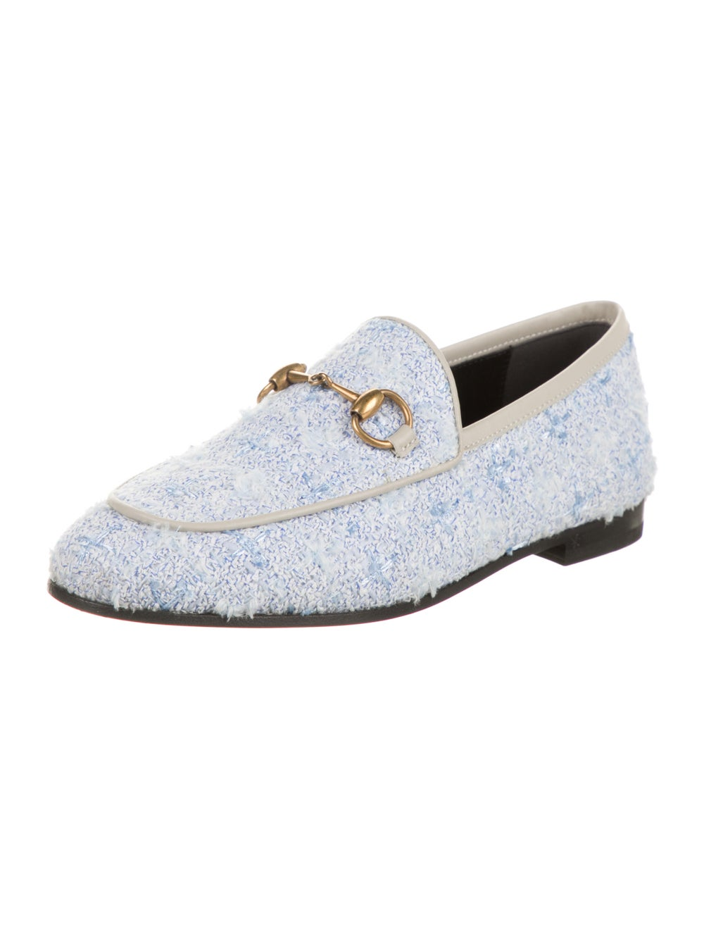 Gucci Horsebit Accent Tweed Pattern Loafers w/ Ta… - image 2