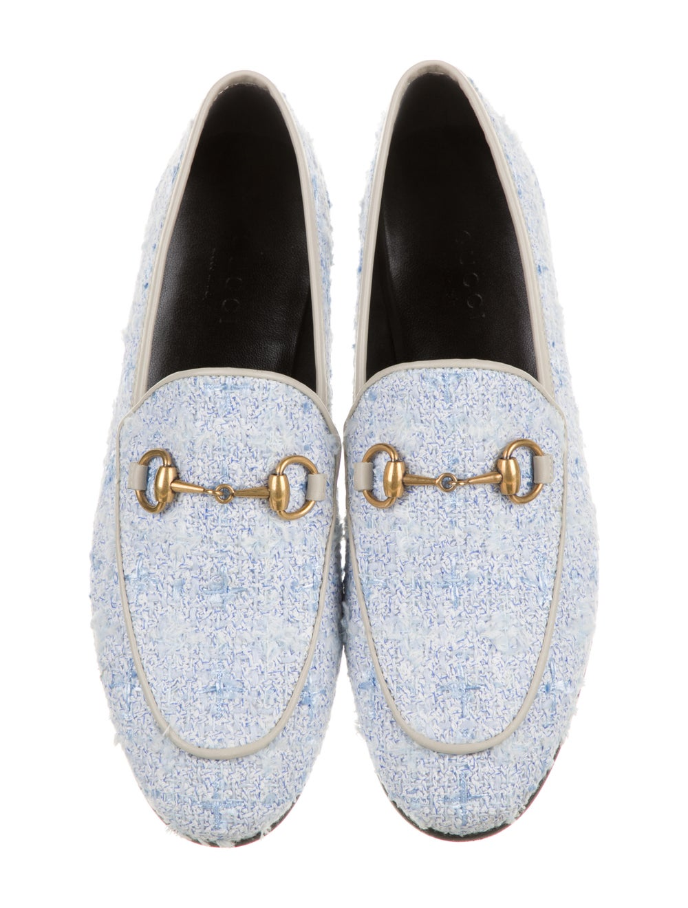 Gucci Horsebit Accent Tweed Pattern Loafers w/ Ta… - image 3