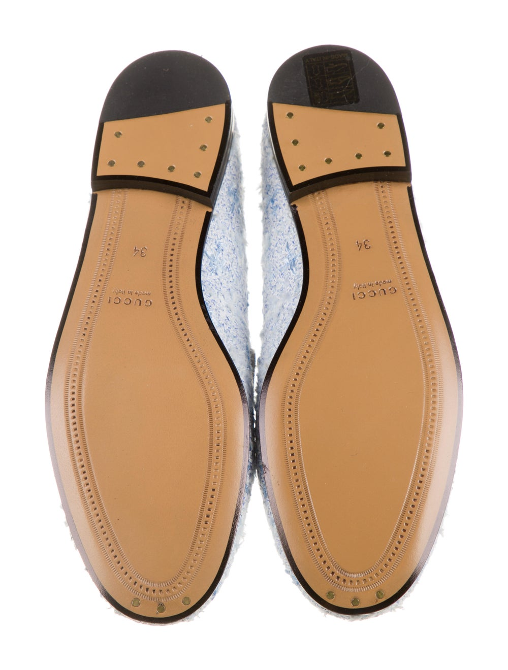 Gucci Horsebit Accent Tweed Pattern Loafers w/ Ta… - image 5