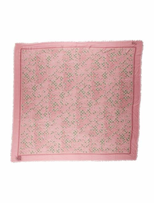 Gucci Big Arabesque Silk-Blend Scarf w/ Tags Pink - image 1