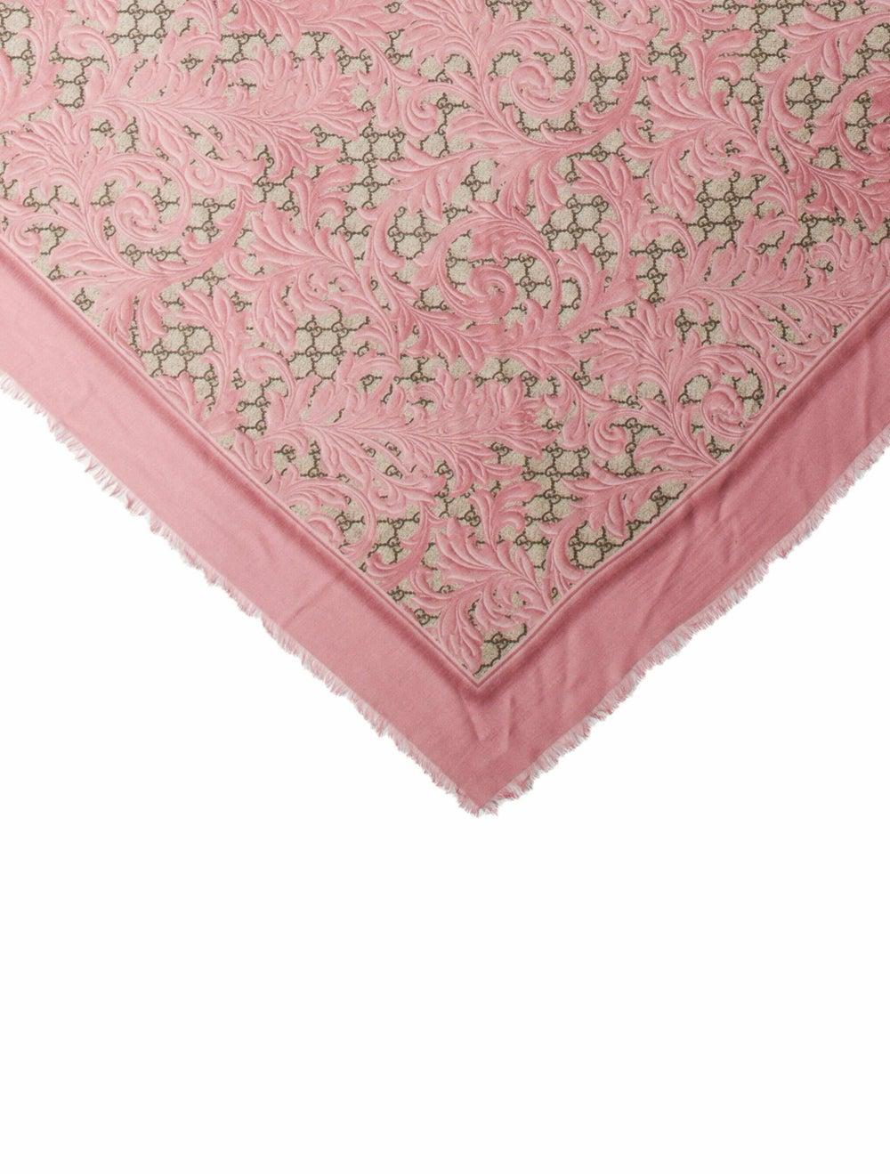 Gucci Big Arabesque Silk-Blend Scarf w/ Tags Pink - image 2