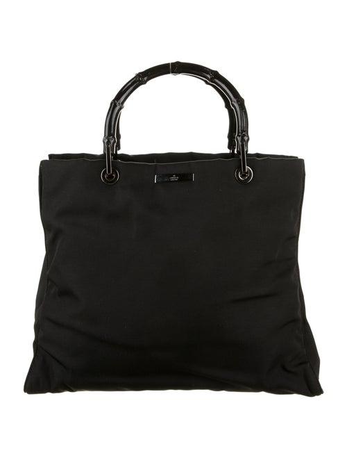 Gucci Nylon Bamboo Top Handle Bag Black - image 1