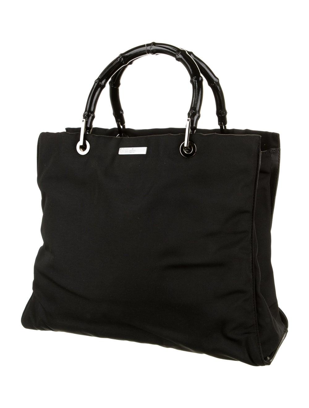 Gucci Nylon Bamboo Top Handle Bag Black - image 3