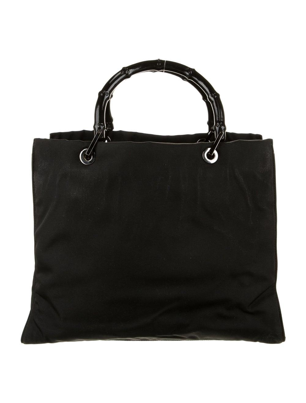 Gucci Nylon Bamboo Top Handle Bag Black - image 4