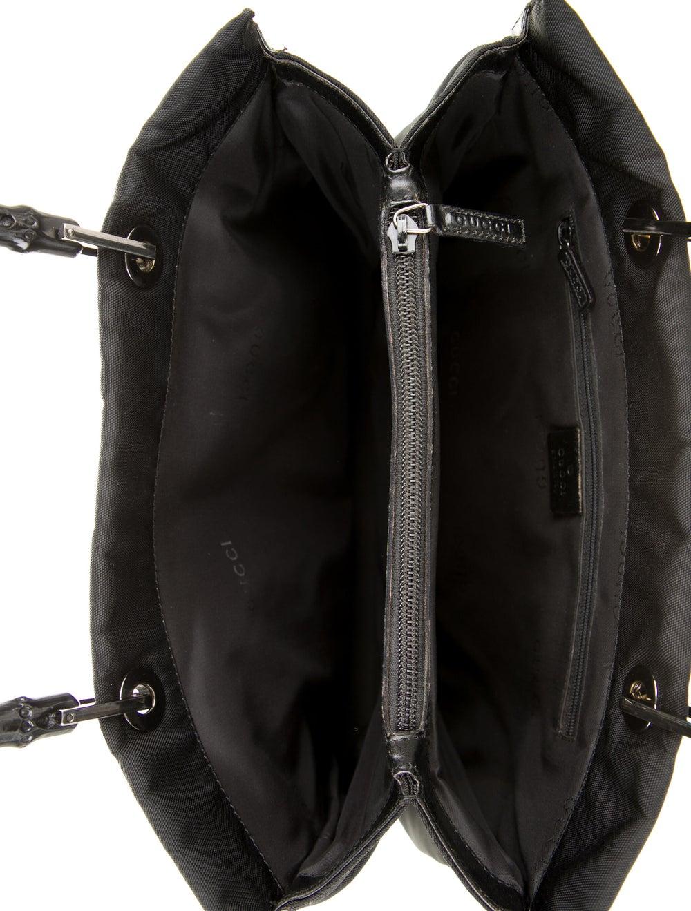 Gucci Nylon Bamboo Top Handle Bag Black - image 5