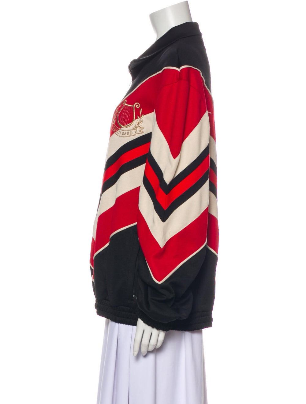 Gucci 2019 Striped Bomber Jacket w/ Tags Black - image 2