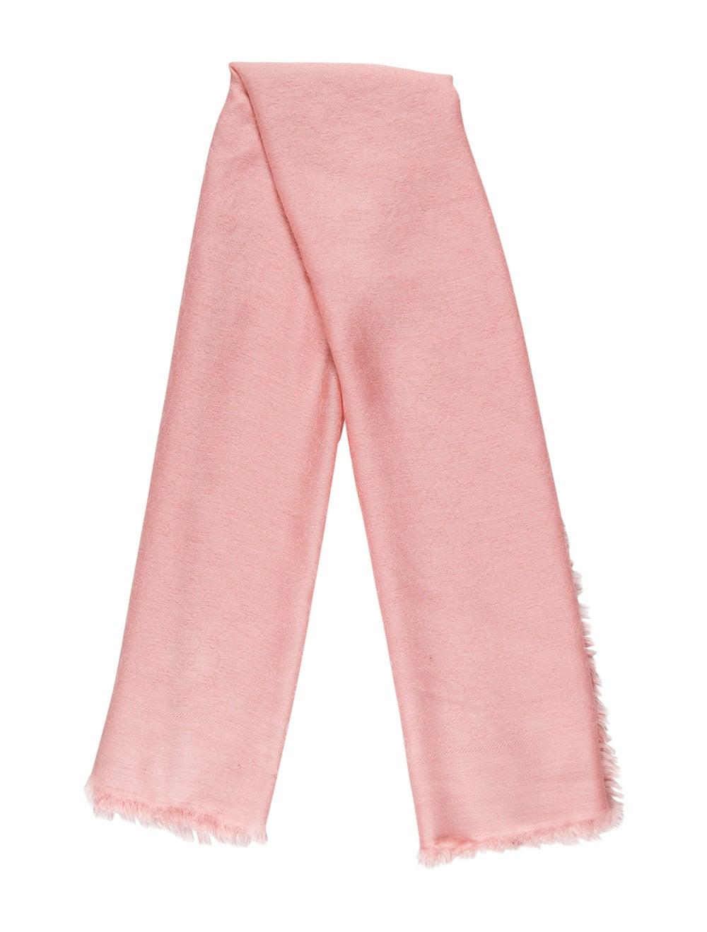 Gucci GG Wool-Silk Scarf w/ Tags Pink - image 1
