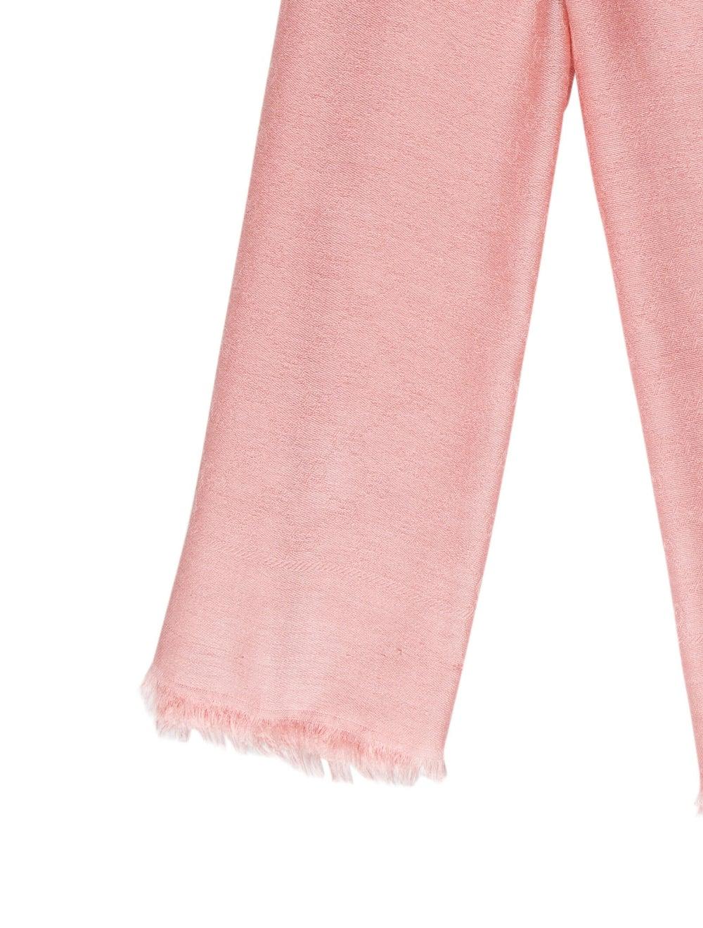 Gucci GG Wool-Silk Scarf w/ Tags Pink - image 2
