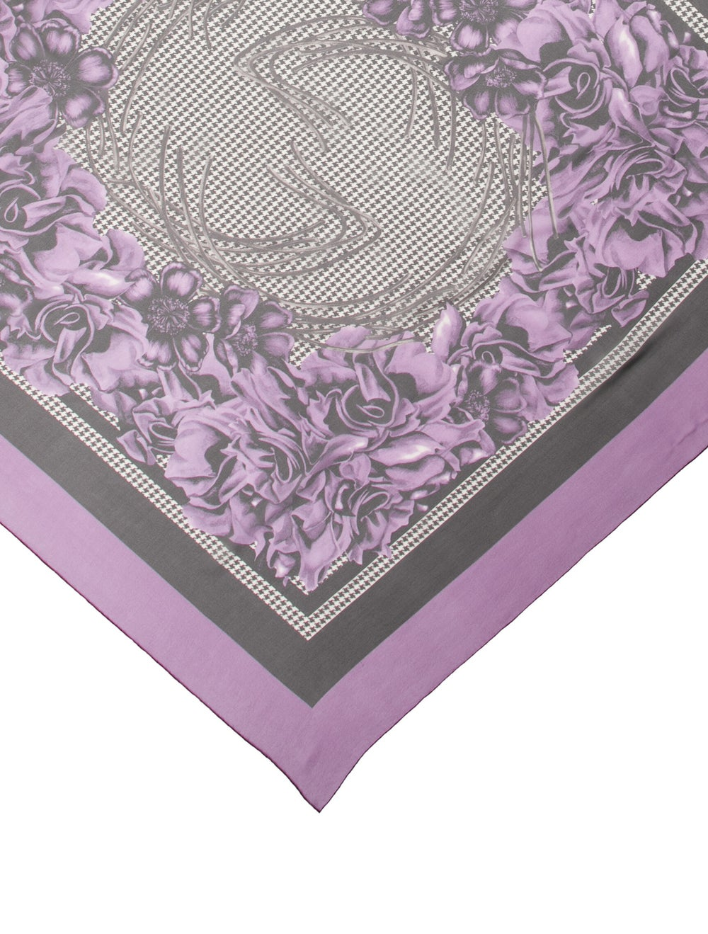 Gucci Silk Floral Print Scarf Purple - image 2