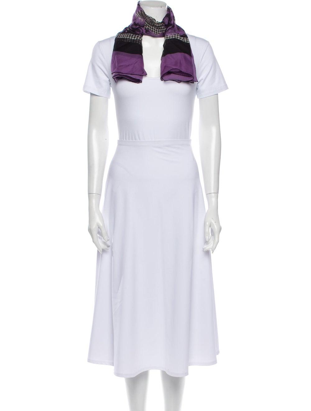 Gucci Silk Floral Print Scarf Purple - image 3