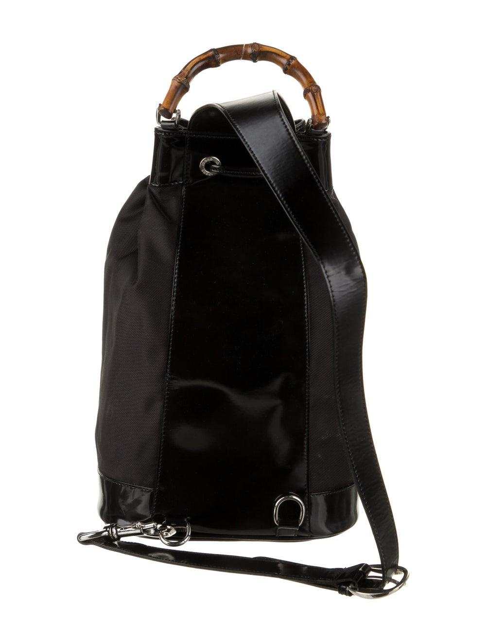 Gucci Vintage Bamboo Nylon Sling Bag Black - image 4