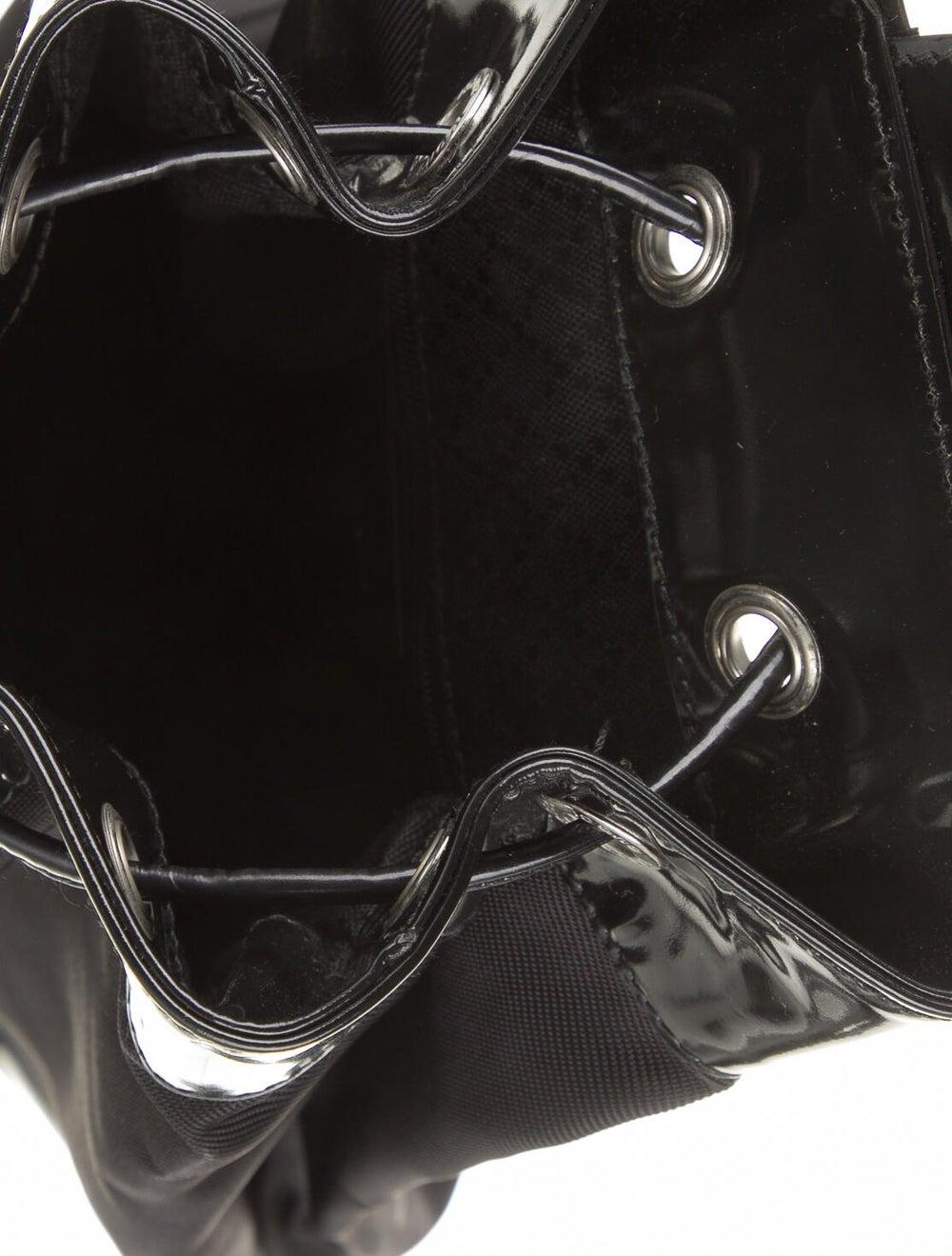 Gucci Vintage Bamboo Nylon Sling Bag Black - image 5