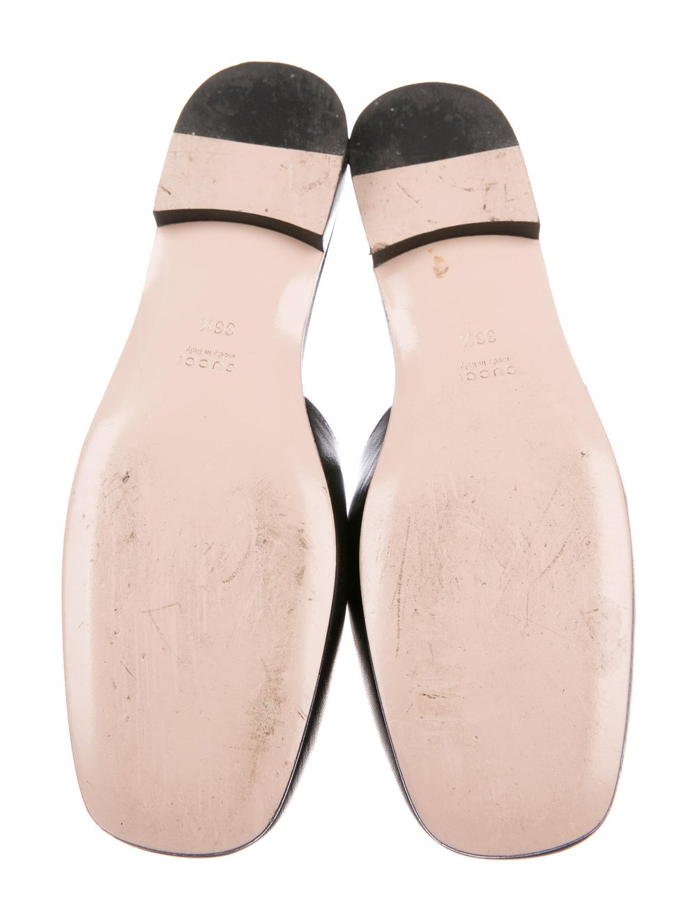 Gucci Leather Crystal Embellishments Mules Black - image 5