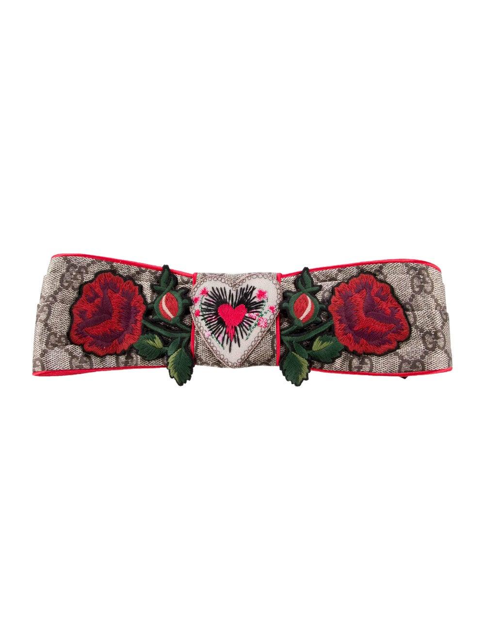 Gucci Silk Floral Headband w/ Tags Blue - image 1