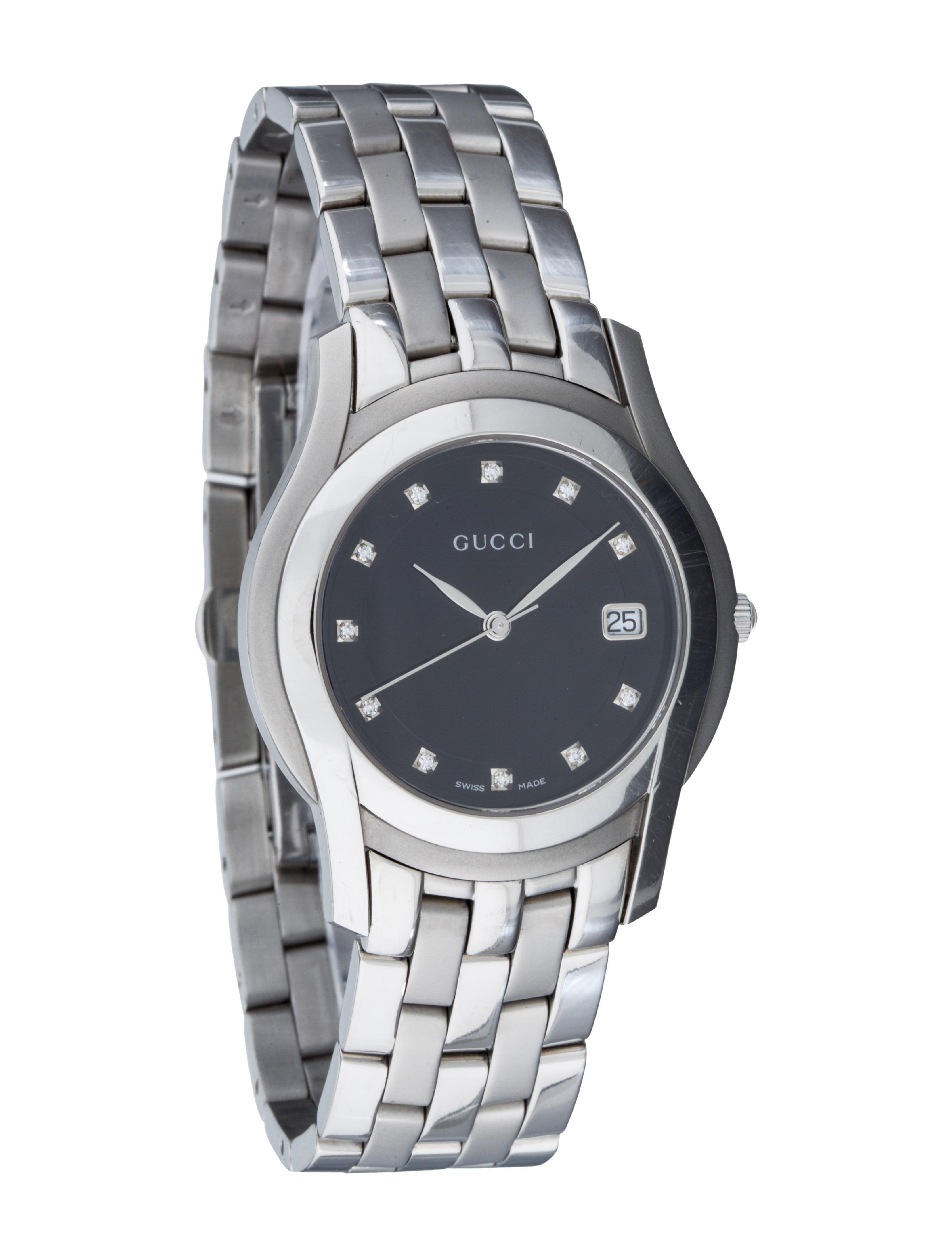 0e98bcda882 Gucci 5500M Diamond Watch - Bracelet - GUC62172