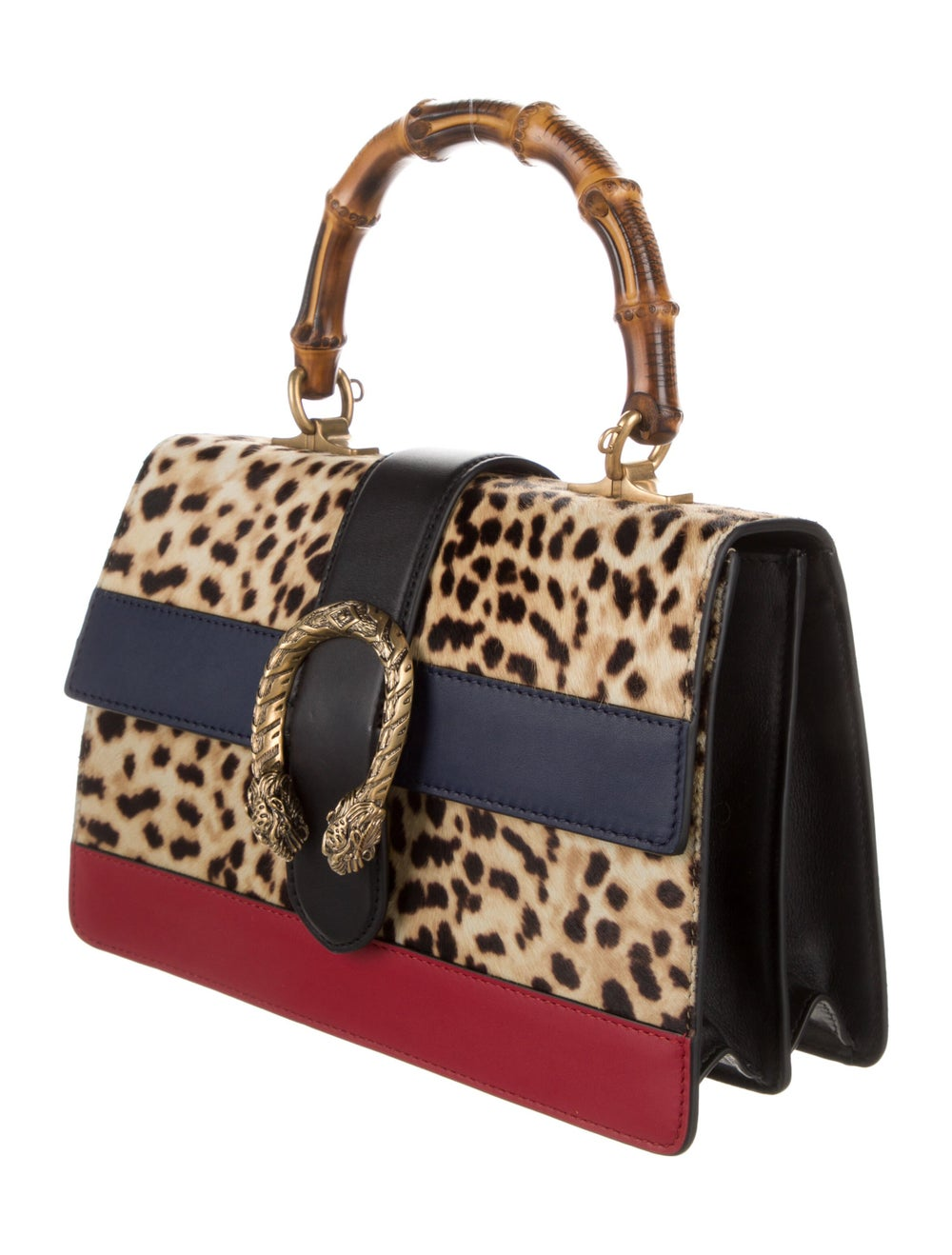 Gucci Dionysus Bamboo Top Handle Bag Gold - image 3
