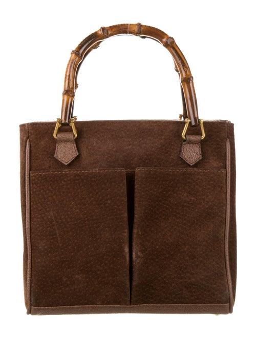 Gucci Vintage Mini Bamboo Handle Bag Brown - image 1