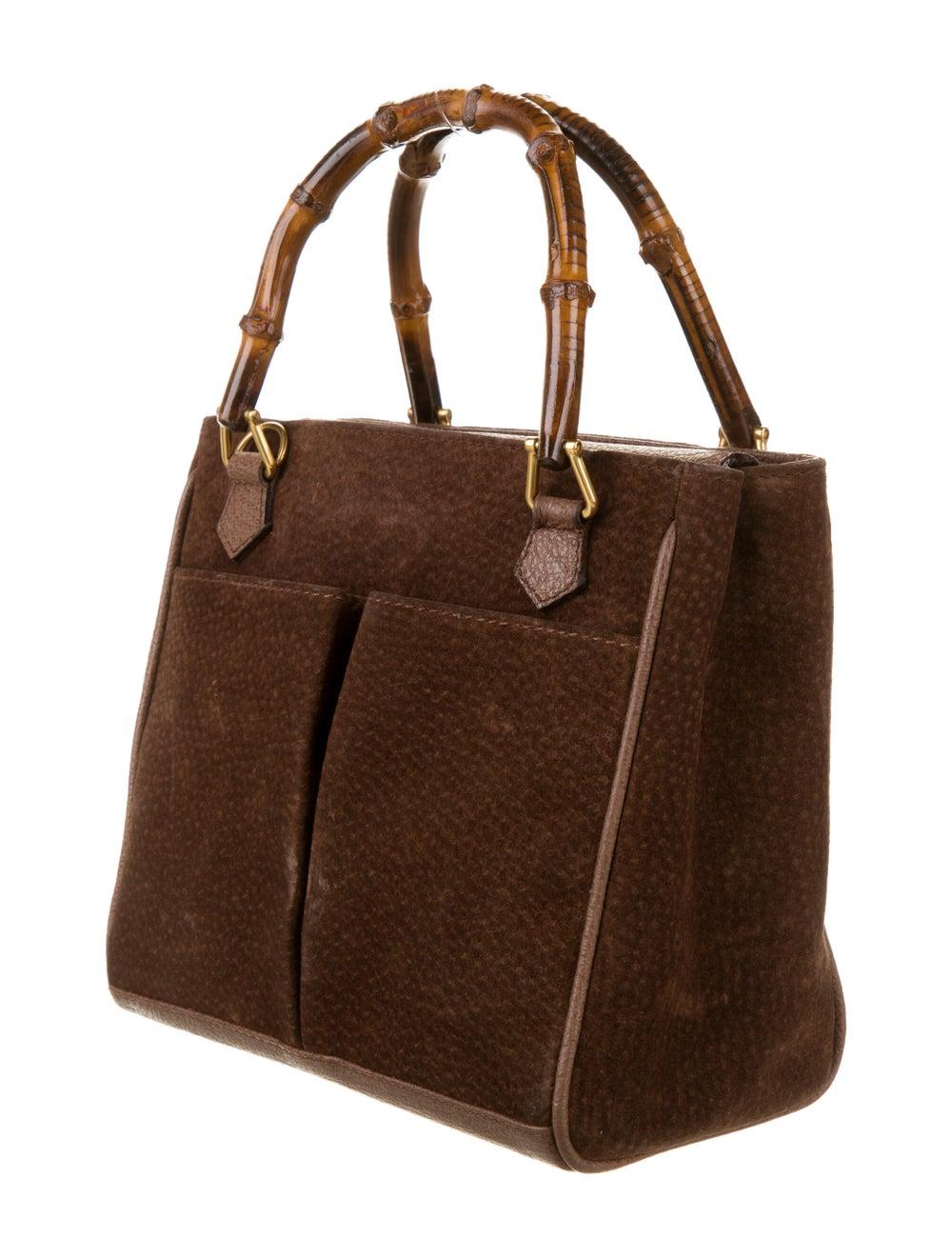 Gucci Vintage Mini Bamboo Handle Bag Brown - image 3