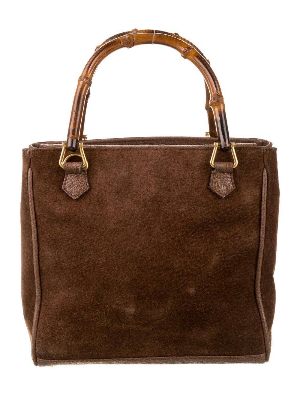 Gucci Vintage Mini Bamboo Handle Bag Brown - image 4