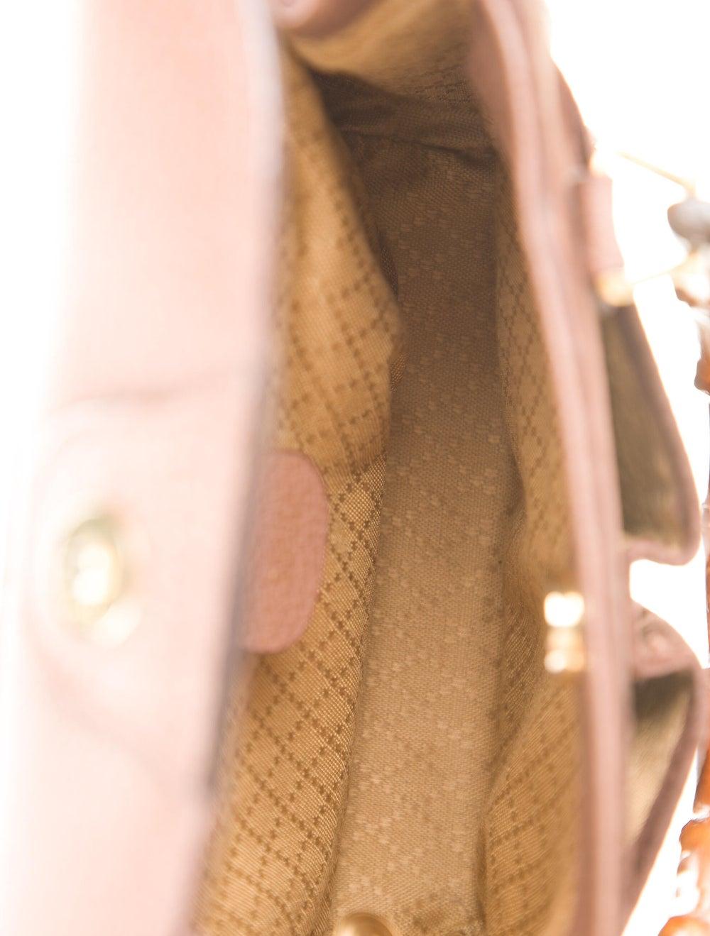 Gucci Vintage Mini Bamboo Handle Bag Brown - image 5