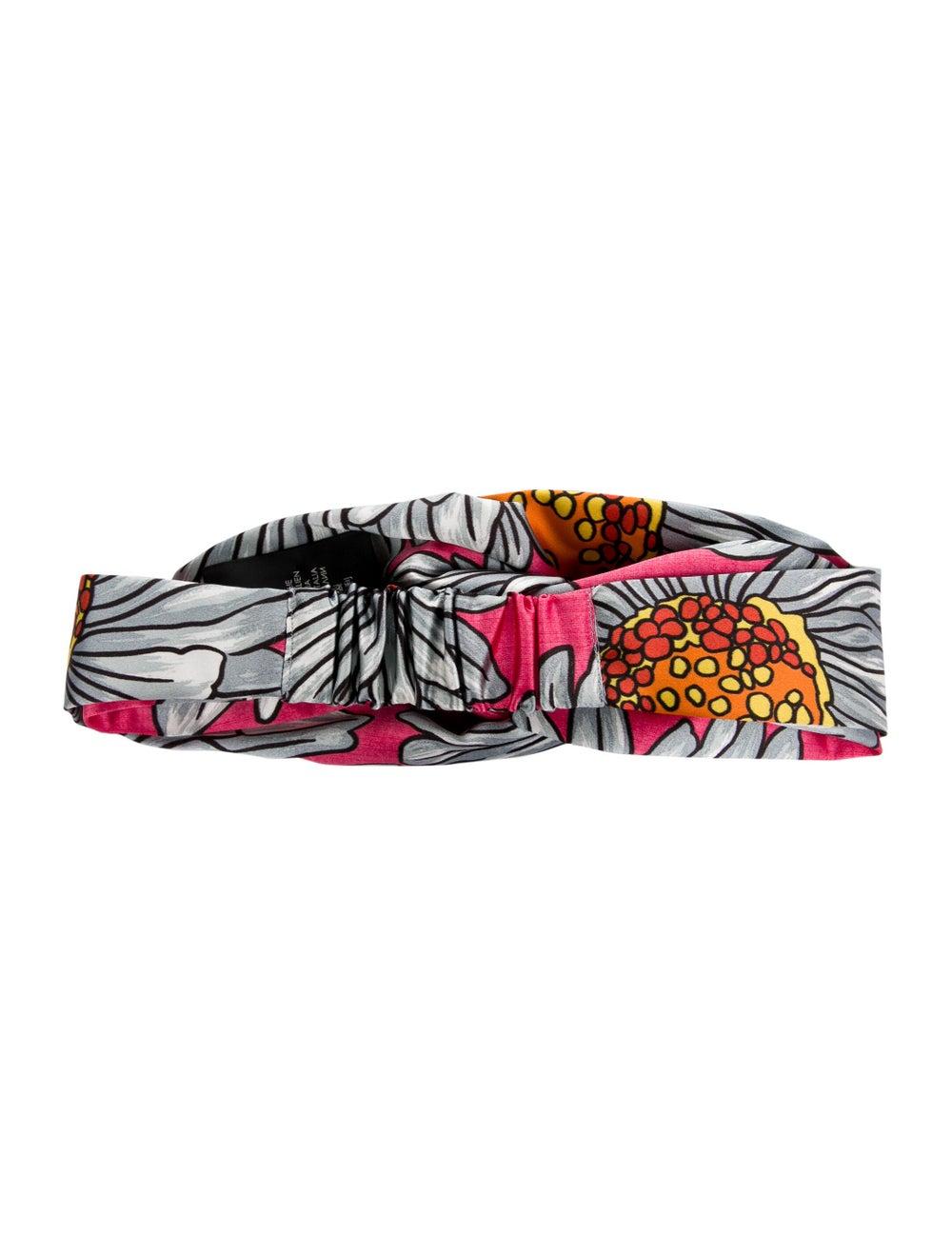 Gucci Floral Silk Headband Pink - image 2