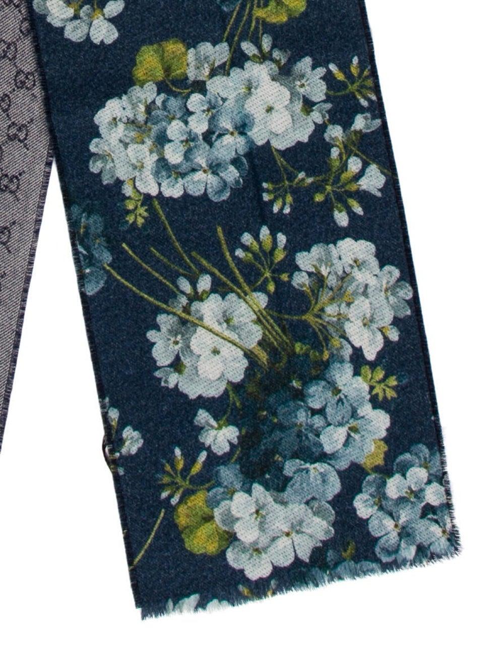 Gucci Wool Floral Print Scarf Wool - image 2