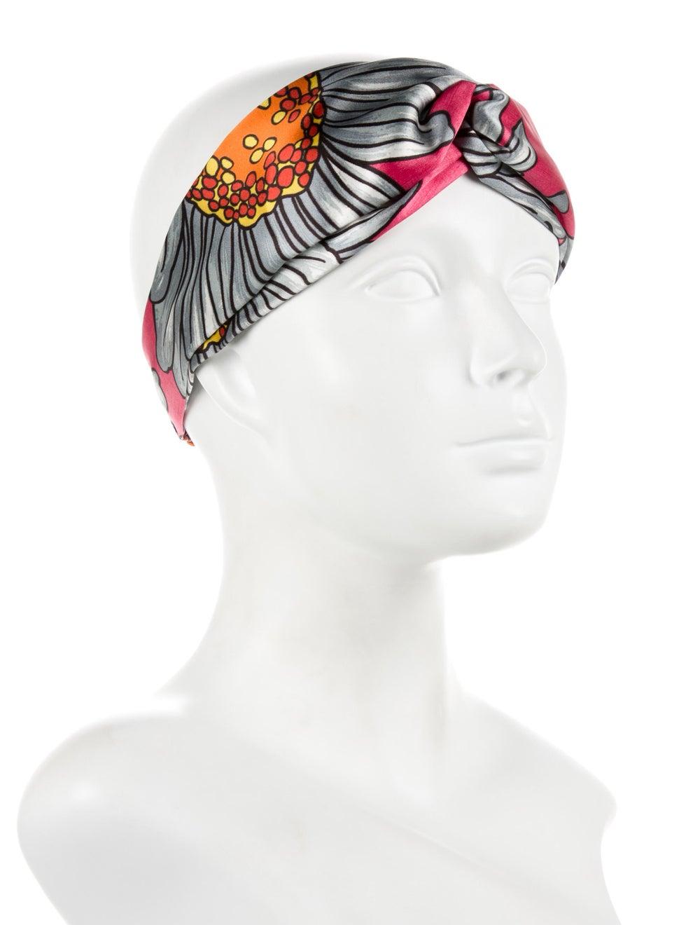 Gucci Floral Silk Headband Pink - image 3