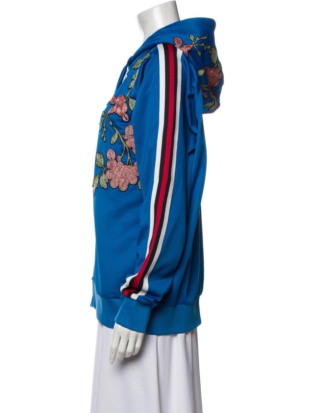 Gucci 2017 Floral Print Sweatshirt Sweatshirt Blue - image 2