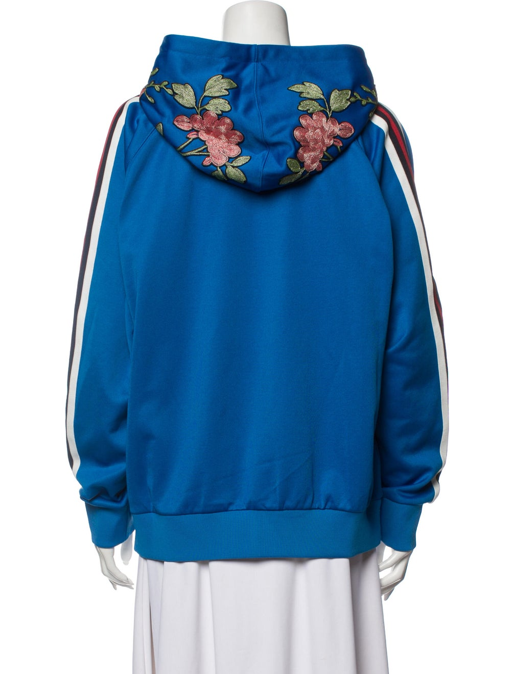Gucci 2017 Floral Print Sweatshirt Sweatshirt Blue - image 3