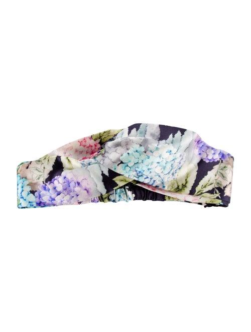 Gucci Silk Floral Headband w/ Tags Blue