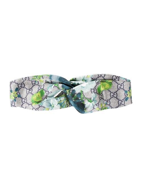 Gucci Gucci Silk GG Blooms Headband w/ Tags Blue