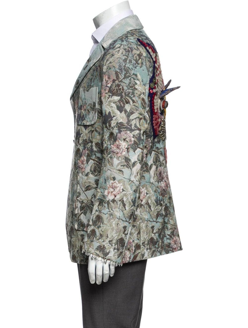 Gucci Floral Print Blazer w/ Tags Blue - image 2