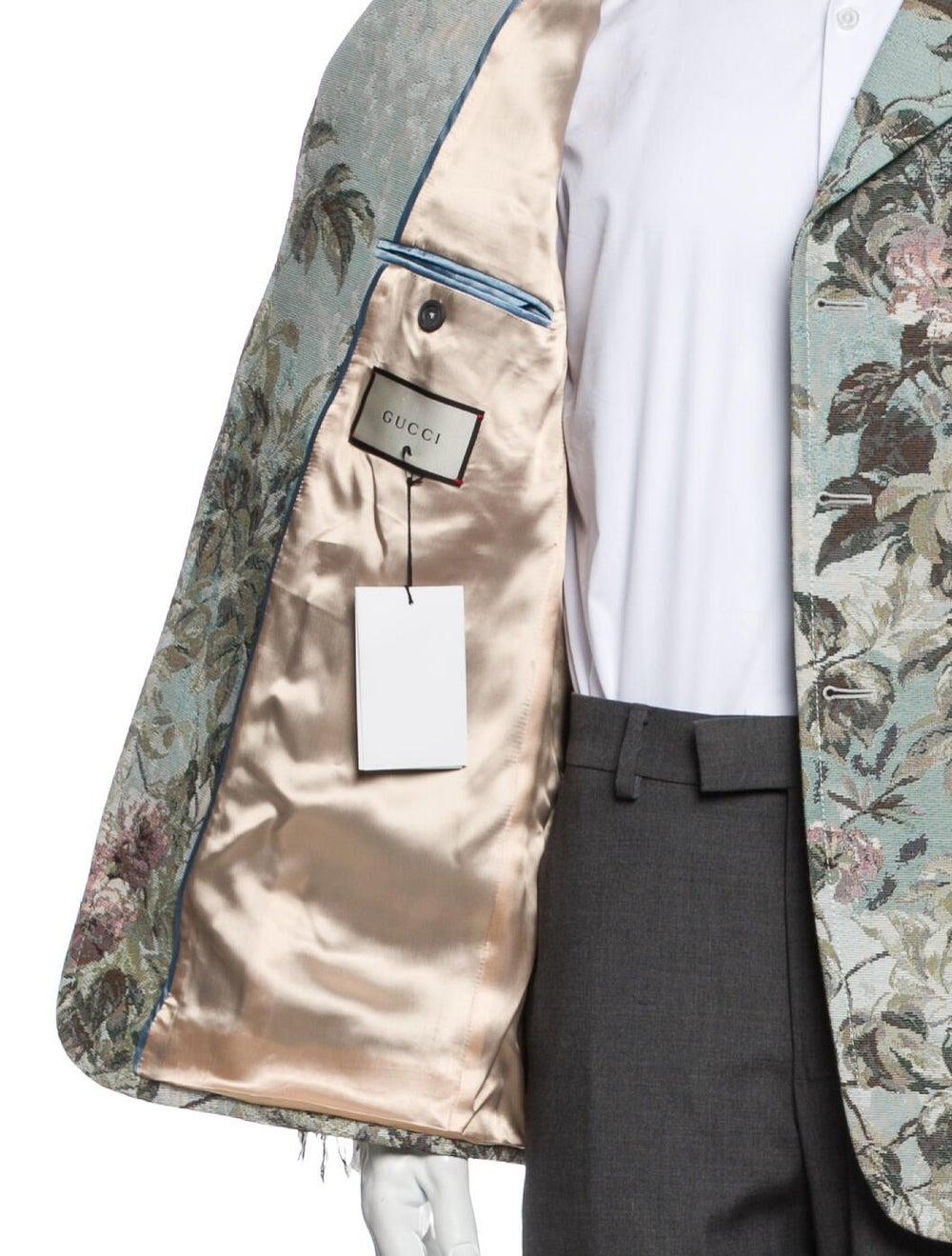 Gucci Floral Print Blazer w/ Tags Blue - image 4
