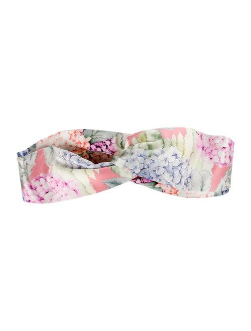 Gucci Silk Floral Headband w/ Tags Pink - image 1