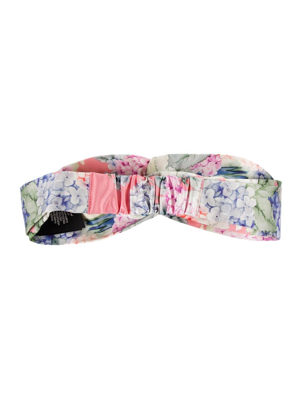 Gucci Silk Floral Headband w/ Tags Pink - image 2