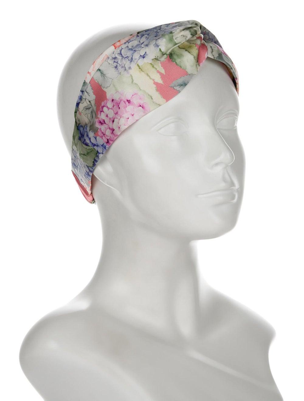 Gucci Silk Floral Headband w/ Tags Pink - image 3