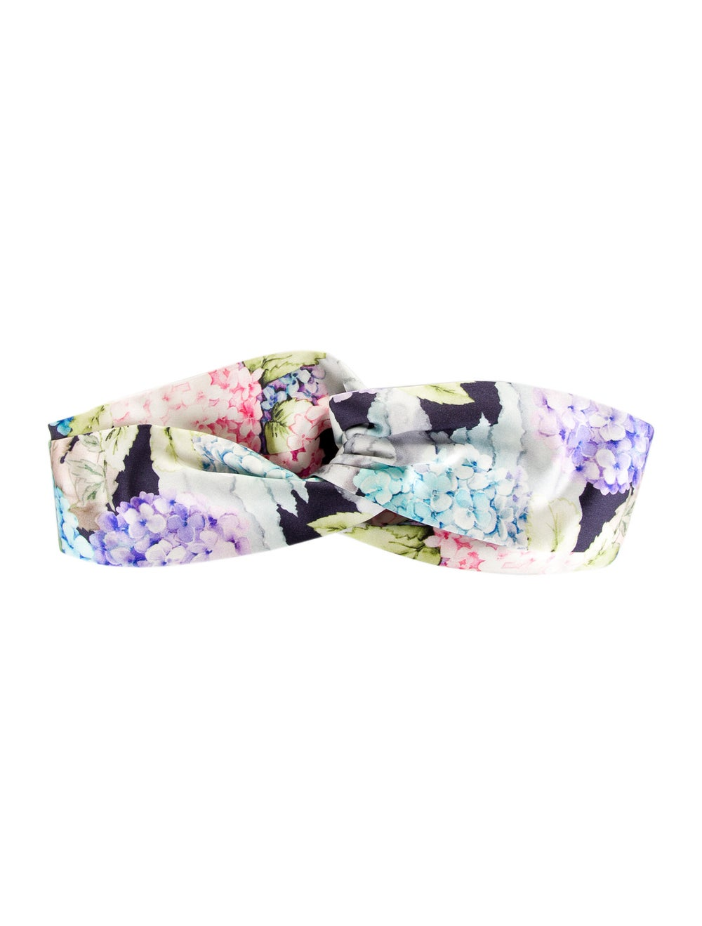 Gucci Floral Silk Headband Purple - image 1