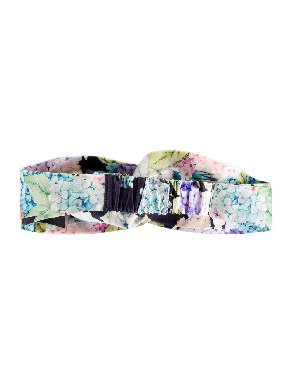 Gucci Floral Silk Headband Purple - image 2